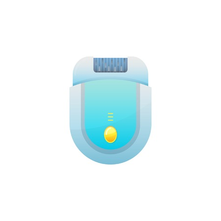 Vector icons of epilator or hair removal. Gradient illustration on white background 向量圖像