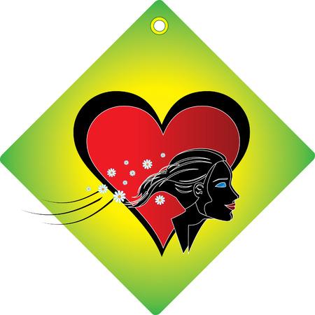 lovely girl: Temporada grunge banner con el coraz�n y hermosa ni�a