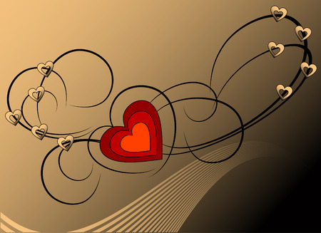 Heart beautiful valentines vector background Stock Vector - 4254300