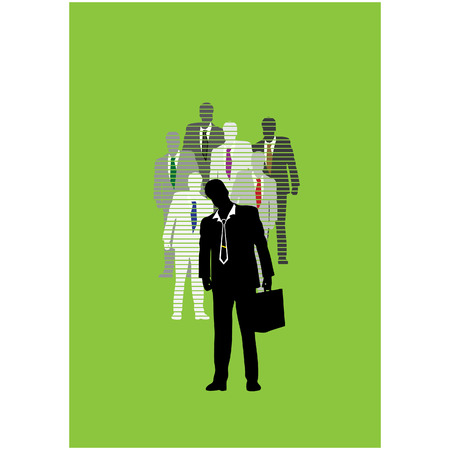 Leadership in business, boss and workers Vector