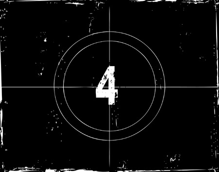 Retro film countdown vector illustration