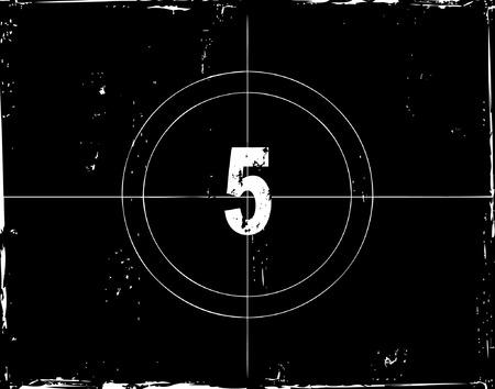 Retro film countdown vector illustration Vector