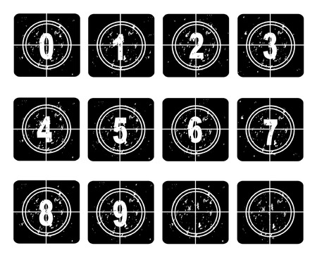 Retro film countdown vector illustration Stock Vector - 4254360