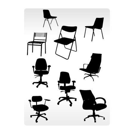 Office armchairs patterns composition Vector