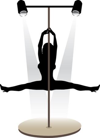 Night club striptease dancers vector illustration Stock Vector - 4271501