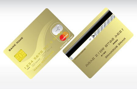Realistic credit cards, vector