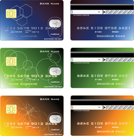 Credit cards design, vector