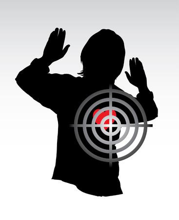 cross hair: Sniper rifle sight with cross hair in heart