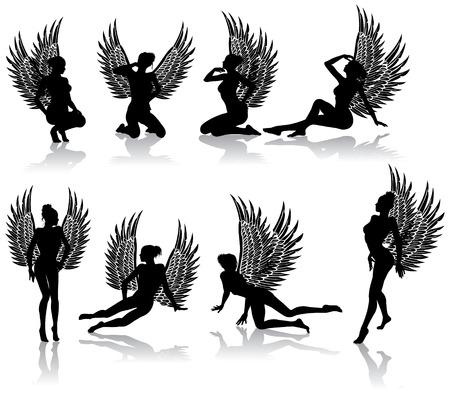 Dark Angel caduti in diverse pose