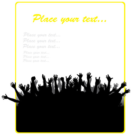 Party banner with different hands