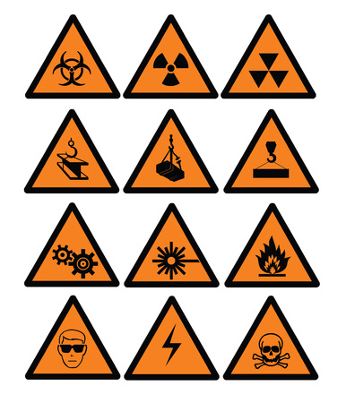 Hazard  and safety vector signs Vector