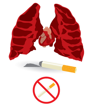 respire: Danger healthcare smoking sign