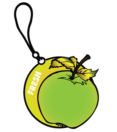 freshener: Apple Air Freshener Illustration