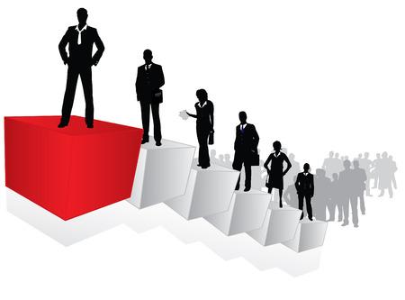 Career ladder - conceptual vector Stock Vector - 5852379