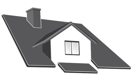 roof line: Ilustraci�n de vector de ruff de c�mara