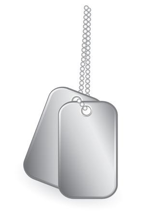 Identity tags vector illustration