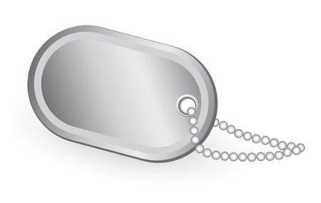 Identity tag vector illustration