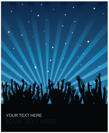 Party cheering audience vector background