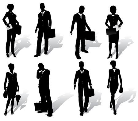 caso: Siluetas de personas de negocios aislados