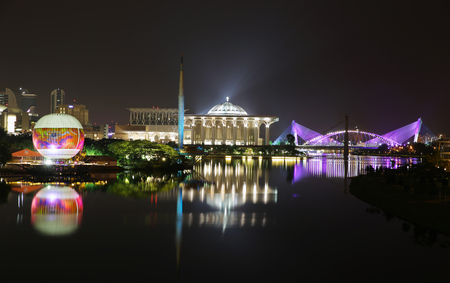 nightview: Beautiful City Nightview at Putrajaya Malaysia