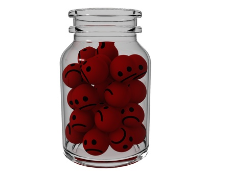 Smilies are angry jars Stock Photo - 17249945