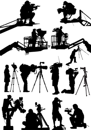 Cameraman Collection Vector