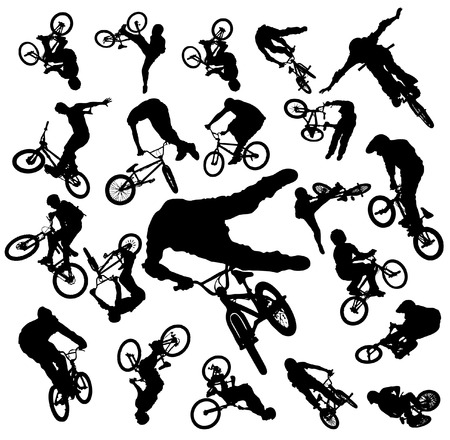 bicicleta vector: Vector Bike Jumping