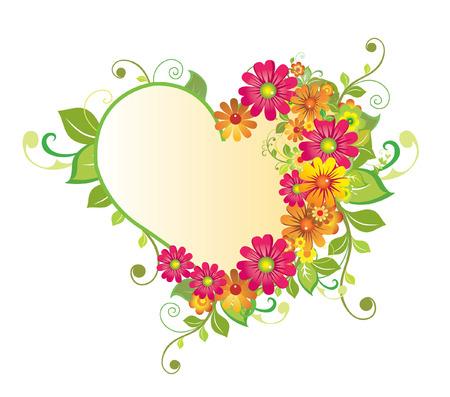 Flower Heart Vectores