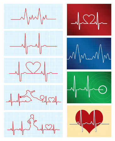 Heartbeat Backgrounds Vector