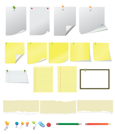 Notes and ripped papers Stock Vector - 6397451