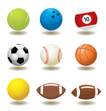 cue ball: Sport Balls Illustration