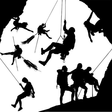 pnacze: Kolekcja climbers Ilustracja