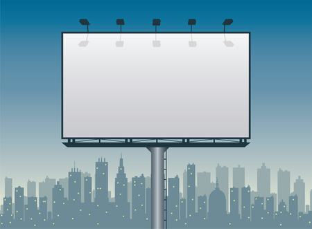 billboard with city