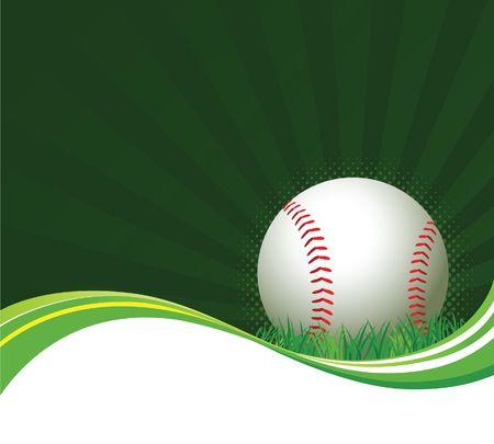Honkbal-achtergrond  Stock Illustratie
