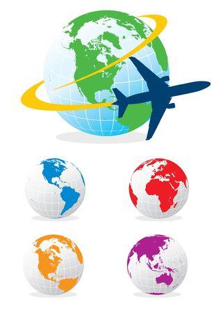 vliegtuig reizen Stock Illustratie