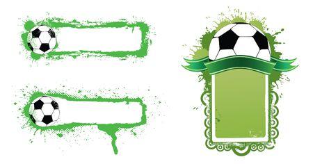 world player: Banner de f�tbol Vectores