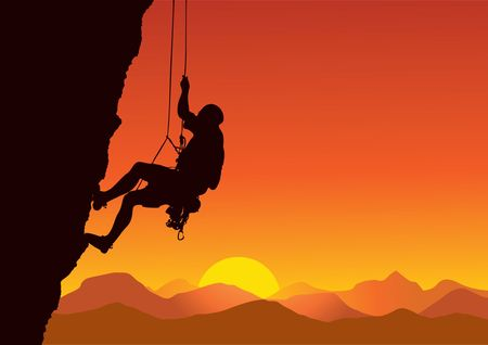 free climber: Rock Climber 2 Illustration