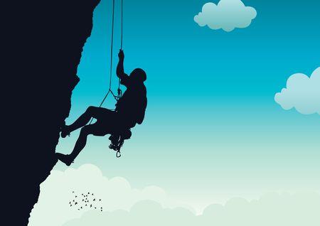 Rock Climber 1 Stock Vector - 6788356