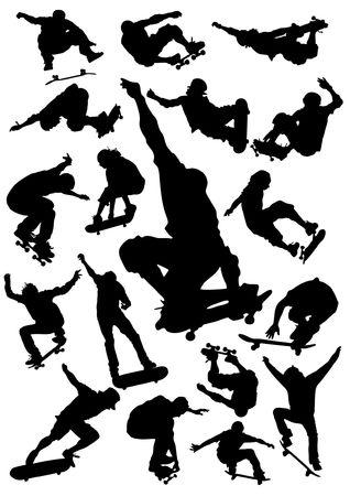 skateboard boy: Skateboarding Silhouettes