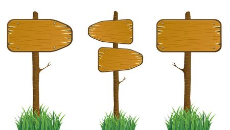 wooden post: Wood Signs