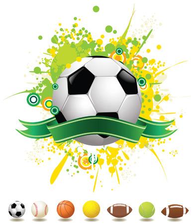 banni�re football: Ballons de sport