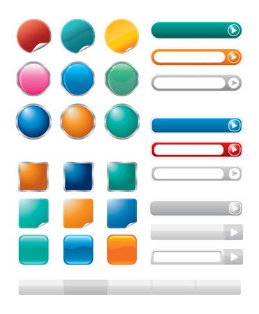buttons for internet Stock Vector - 6874358