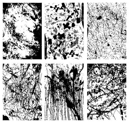 Splattered Grunge Backgrounds Иллюстрация