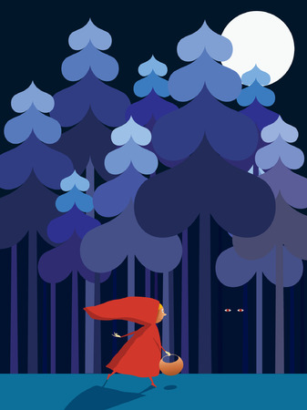 Little Red Riding Hood Stock Vector - 6874355