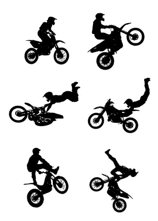 Jumping Motorcycle Vector
