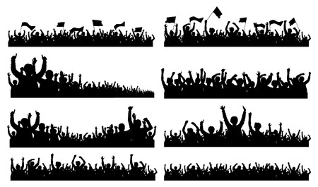 concert crowd: Group People Illustration