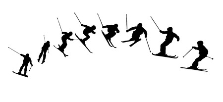 Snow Ski Sequence Vector