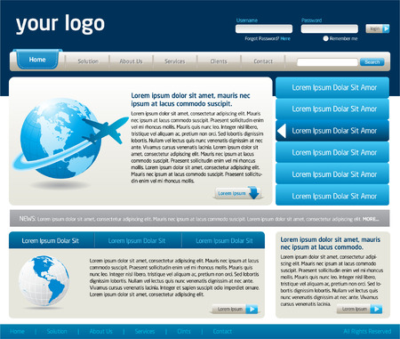 website buttons: website design template