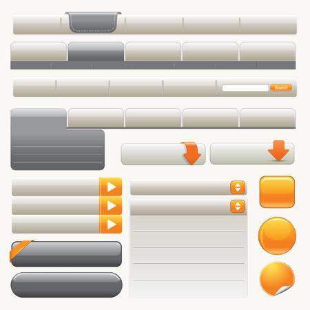 Website Design Elements Иллюстрация