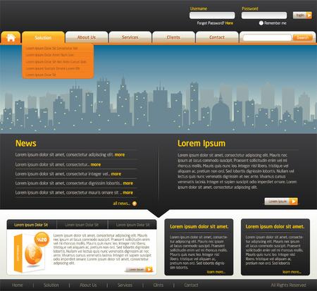 website design template 2 Vector
